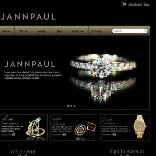 Jewerly Web Design