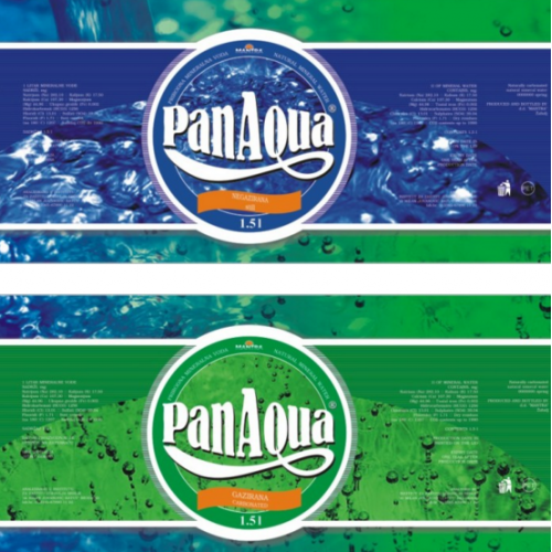 PanAqua - mineral water bottle labels