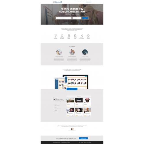 Listomaniak - Startup Web Design