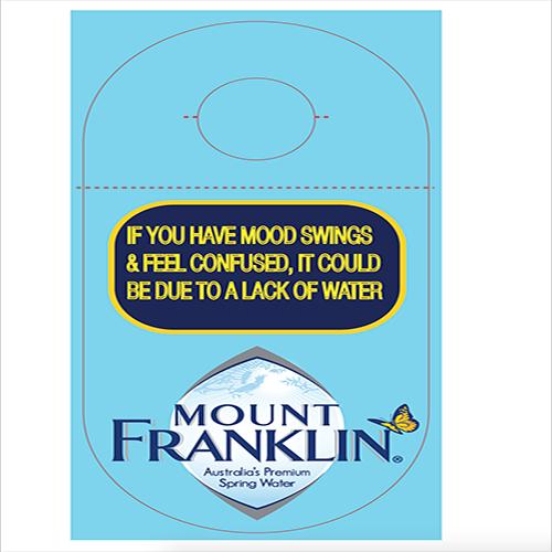 Tag for Mount Franklin Bottle