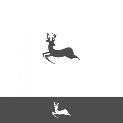 Deer Modern Logo