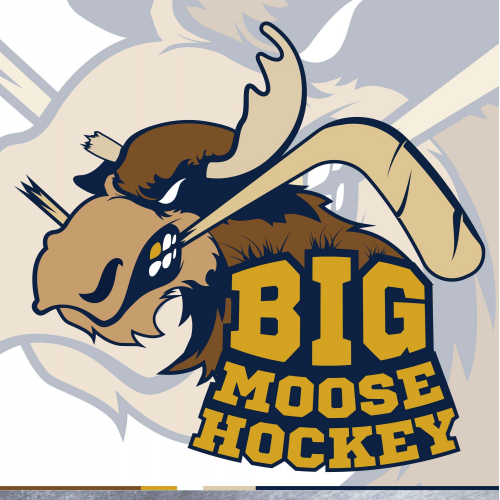 Big moose hokey team logo