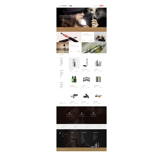 E- Commerce landing page design