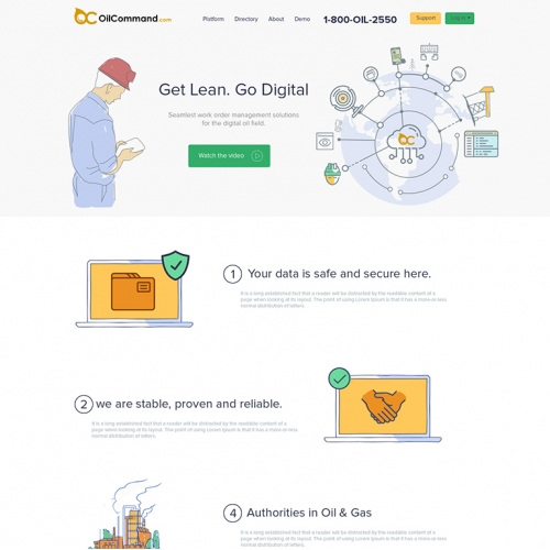 Oil Command landing page
